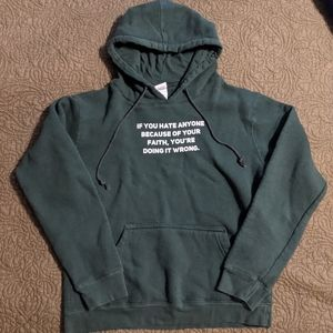 Doing It Wrong Green Hoodie MED